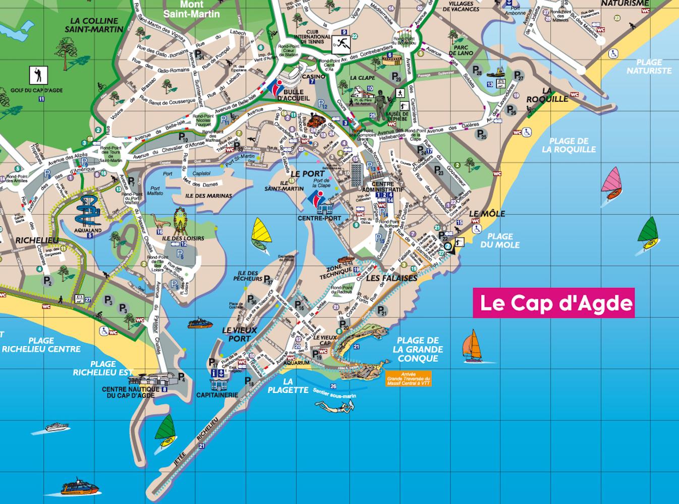 Le plan de ville touristique d'Agde - imapping